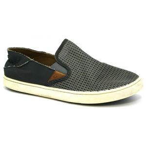 OluKai Womens Pehuea Gray Shoes Size 8.5